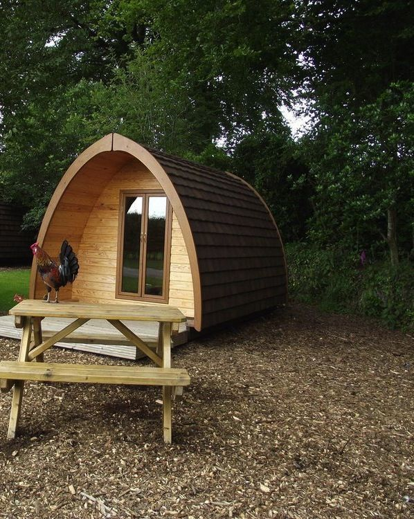 Pod glamping in Devon