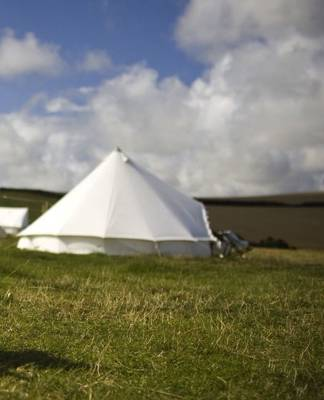 Bell tent glamping in Cornwall