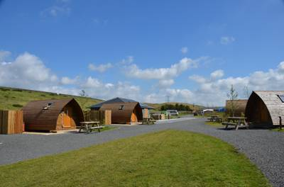 A site near Hadrian's Wall with something for everyone – wigwams, tipis, and an eight-person sauna! Caligula would have blushed...