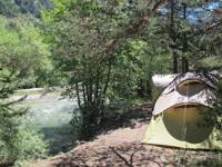 Camping pitch with electricity