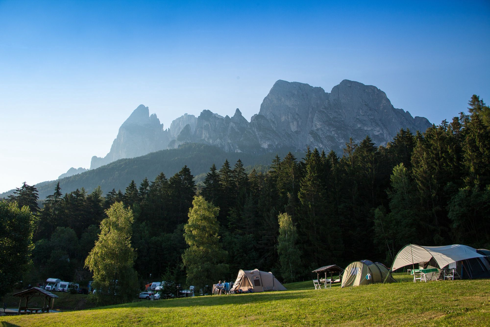 Campsites in the mountains