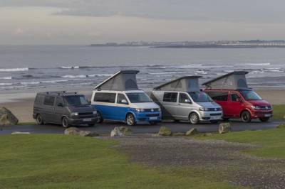 Modern T1 VW campervans from a family-run business with a perfect location for exploring Wales and western England.