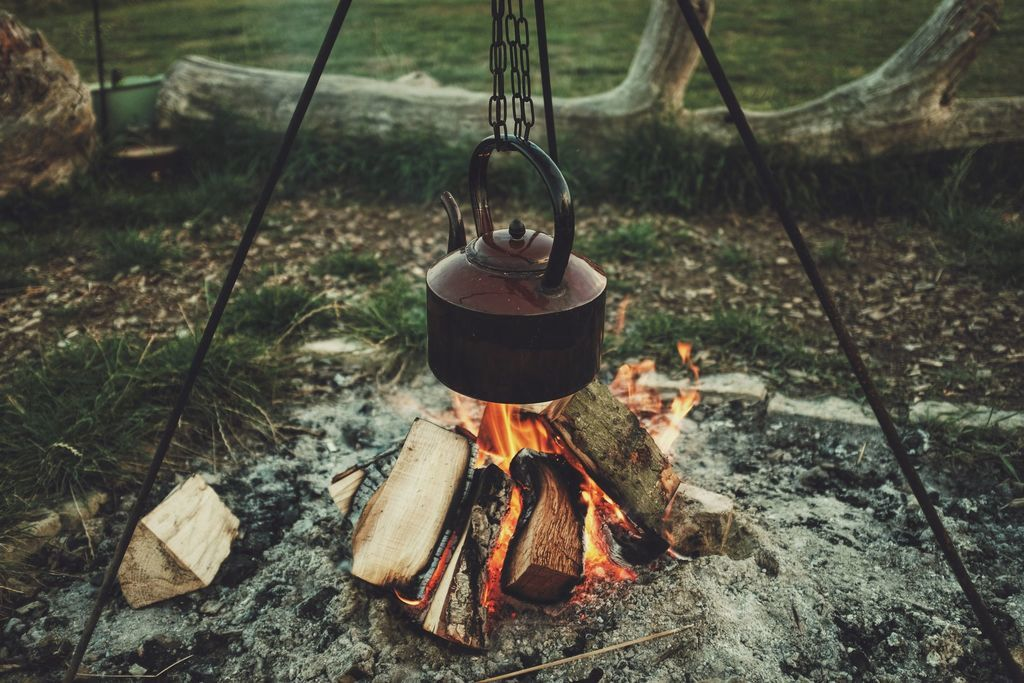 Glamping sites with campfires