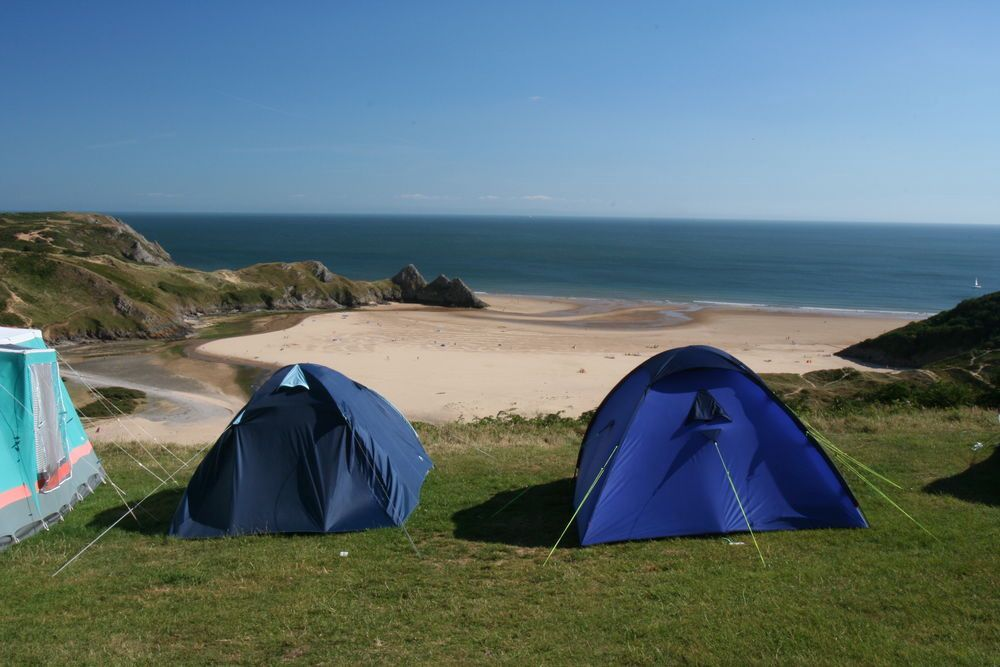 Campsites on the Gower Peninsula