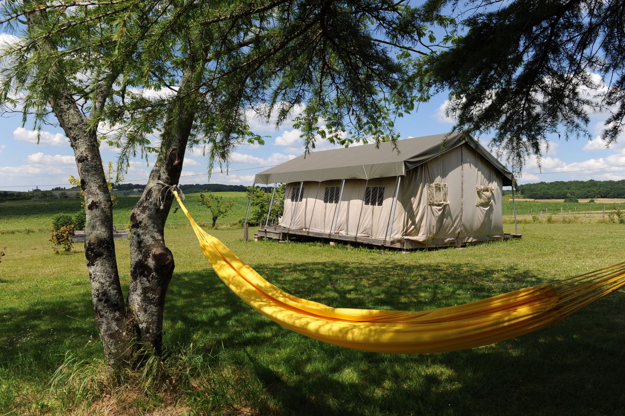 Stay in a luxurious safari tent and feel the sense of zen-like calm which filters through every inch of Simply Canvas.