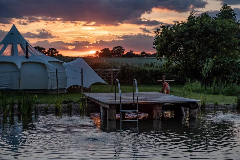 Moat Island Glamping Moat Island Glamping, Haveringland Hall Estate, Haveringland, Norwich, Norfolk NR10 4PN