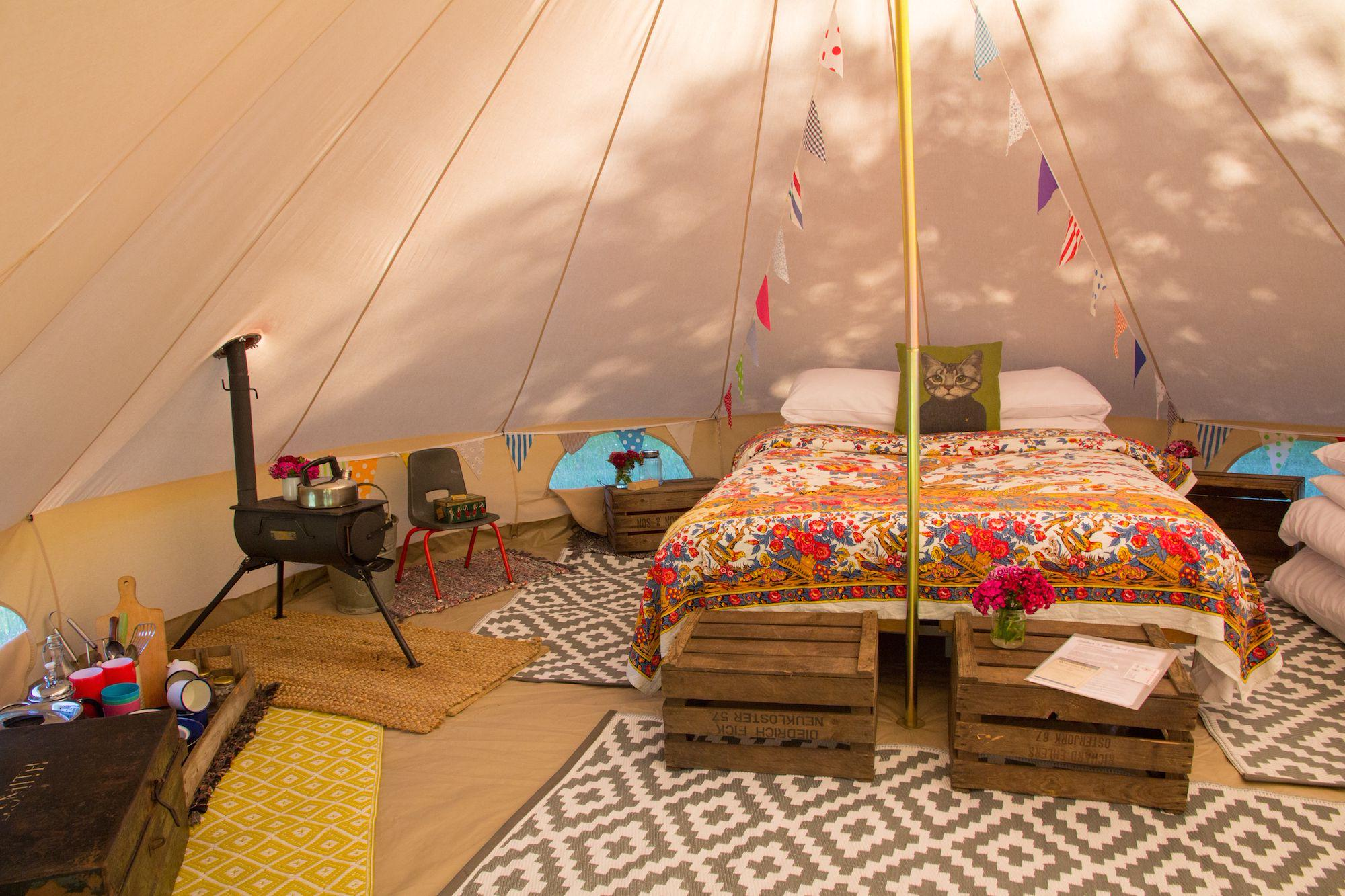 Amber's Bell Tent interior